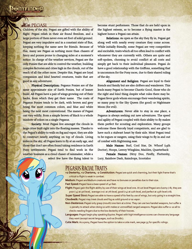 Ponyfinder pegasus