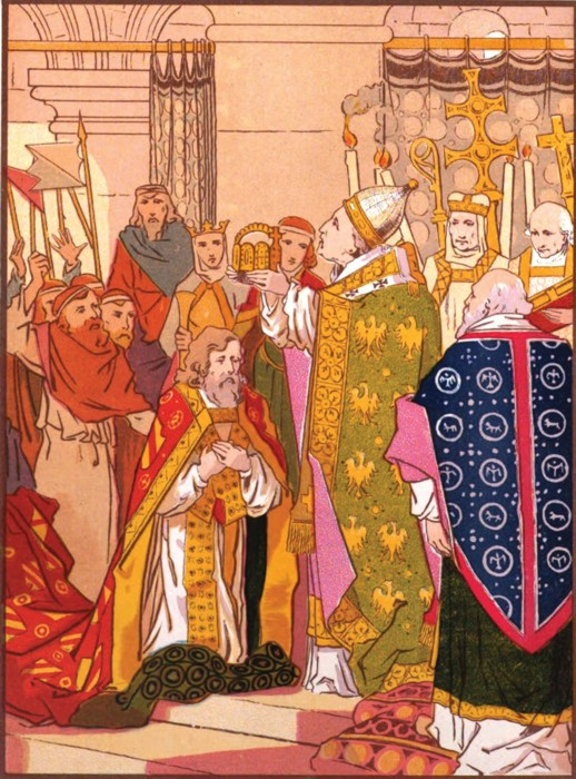 coronation of karl the great  emperor charlemagne    web