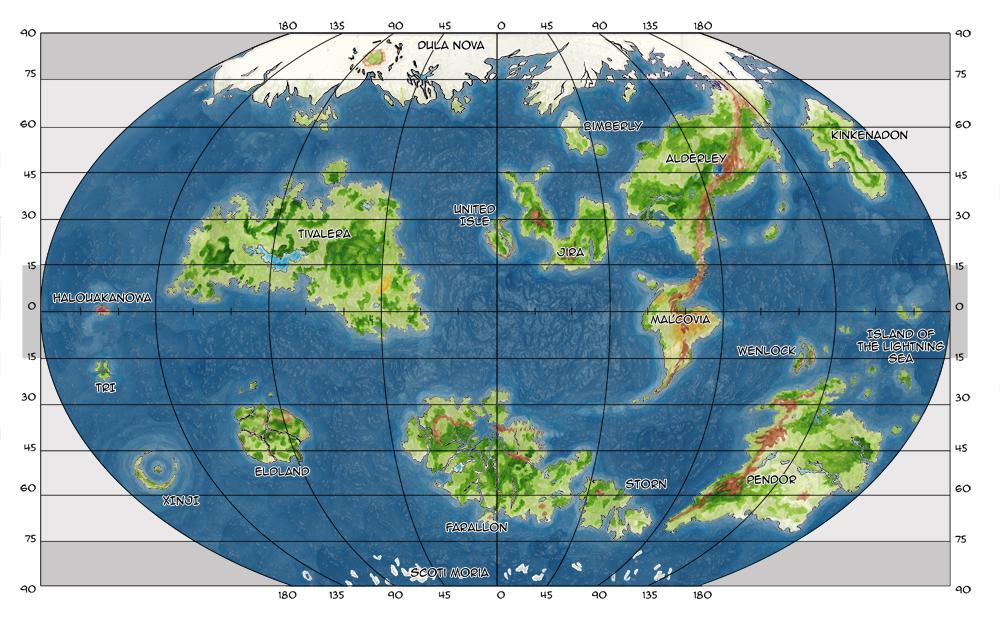 Dark fawn map