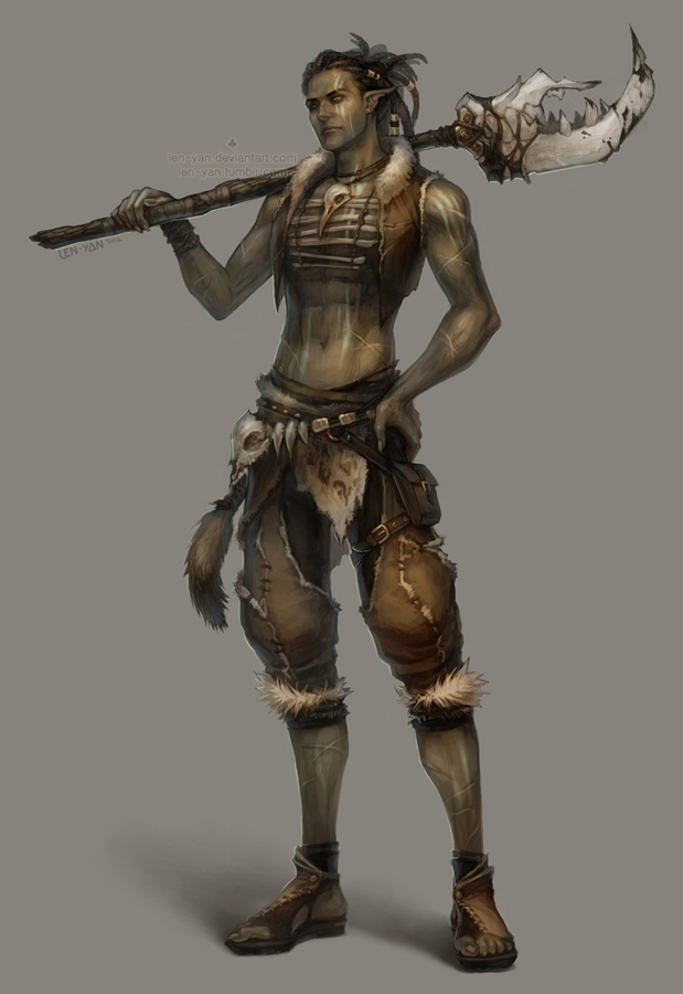 12 tribal warrior by len yan d5kyy4d