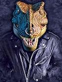 Nas t rex dinosaur biker fantasy tshirt sm