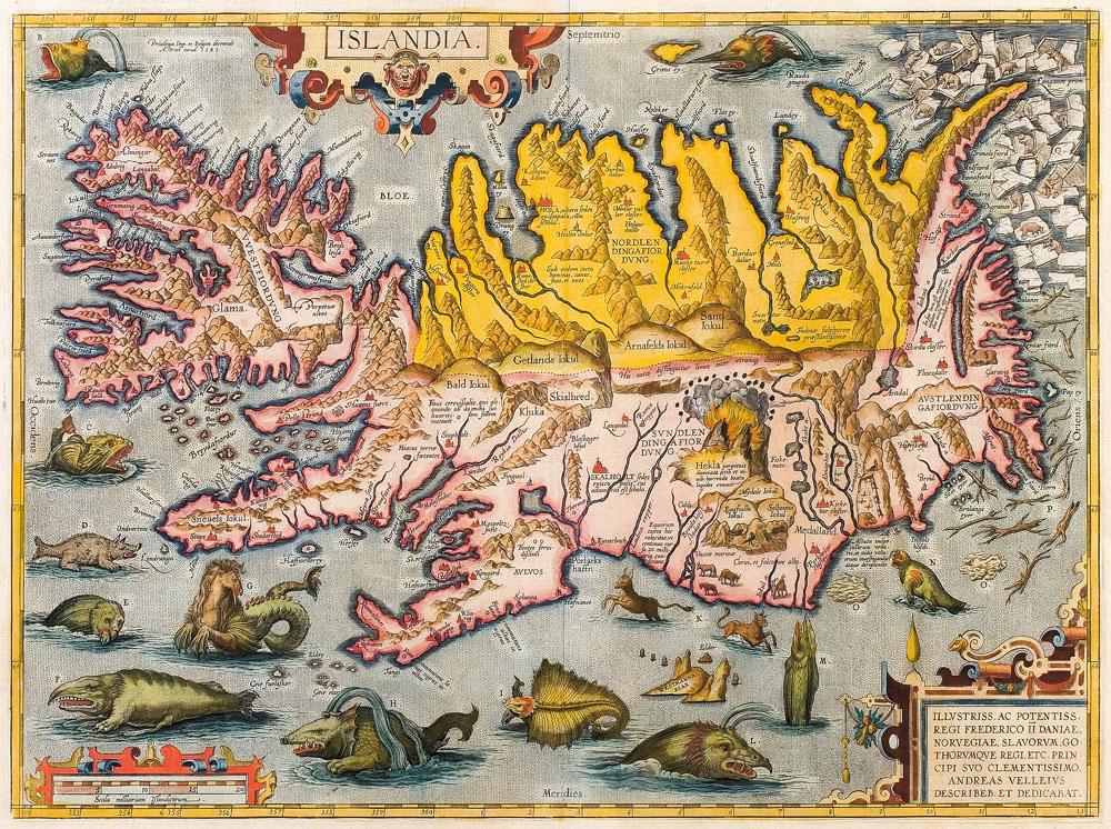 Abraham ortelius islandia ca 1590