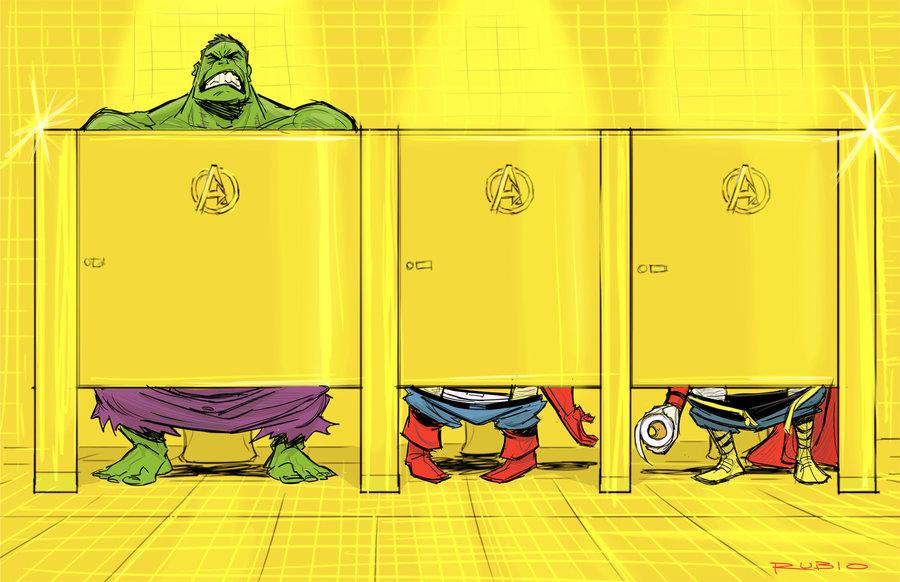 Avenger  s mansion bathroom by barrypresh d46xst3