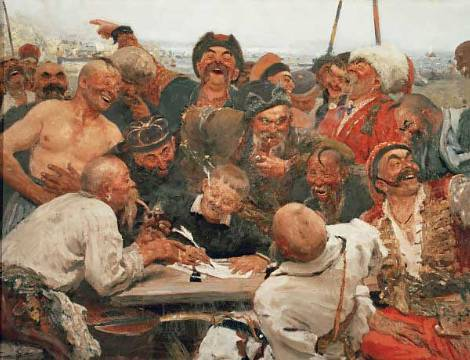 41 00292598 the zaporozhye cossacks writing a mocking letter to the turkish sultan mehmet iv
