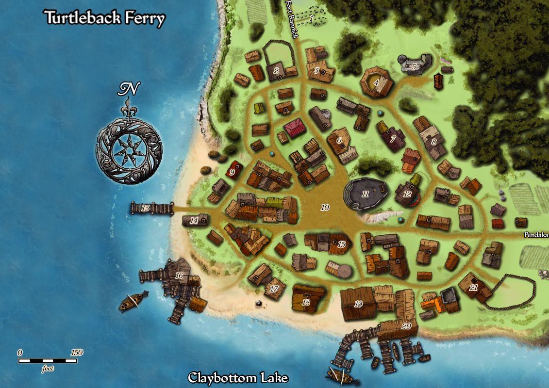 Turtleback ferry map