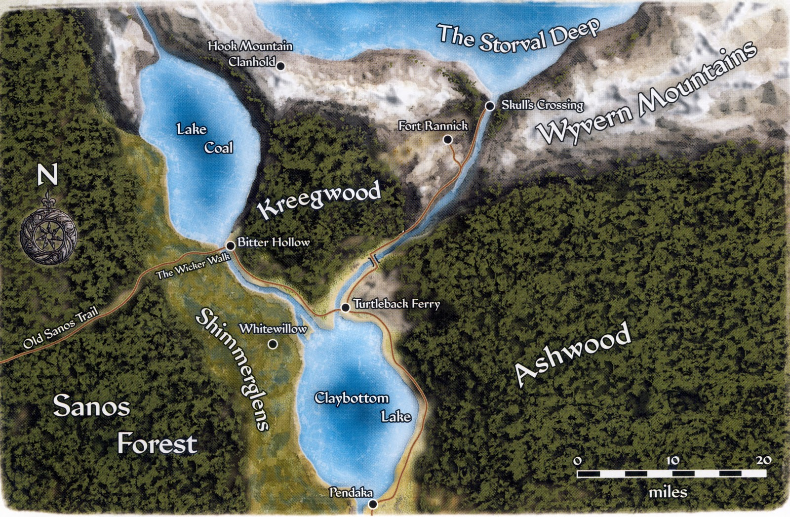 Turtleback environs map