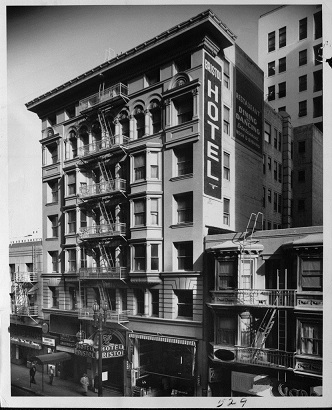 The hotel bristol  located in downtown la at 423 w. 8th street