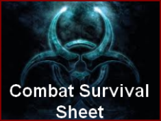 Combat Survival Sheet