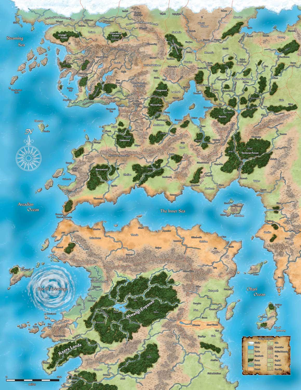 Pathfinder    map    golarion