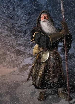 Dwarf king with snow