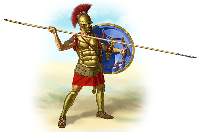 800px ancient greece hoplite with his hoplon and dory