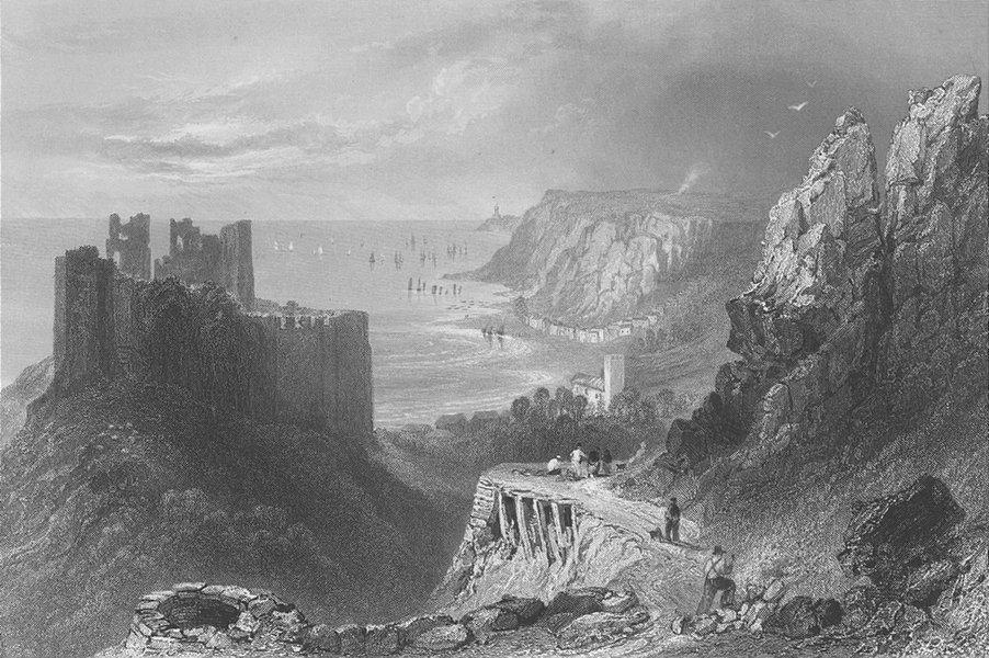 Swansea bay oystermouth castle bartlett finden 1842 49248 p