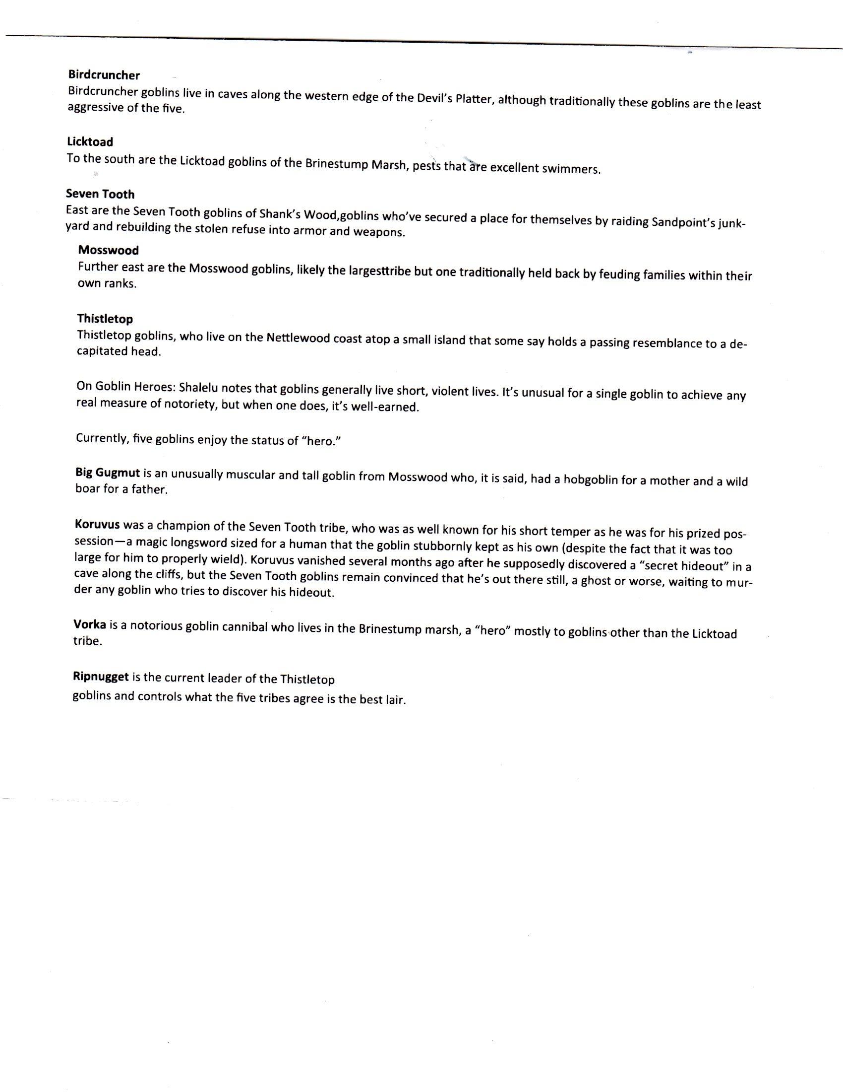 Goblin information001