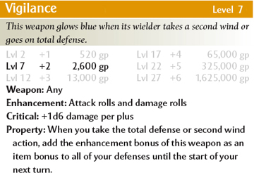 Defensive weapon