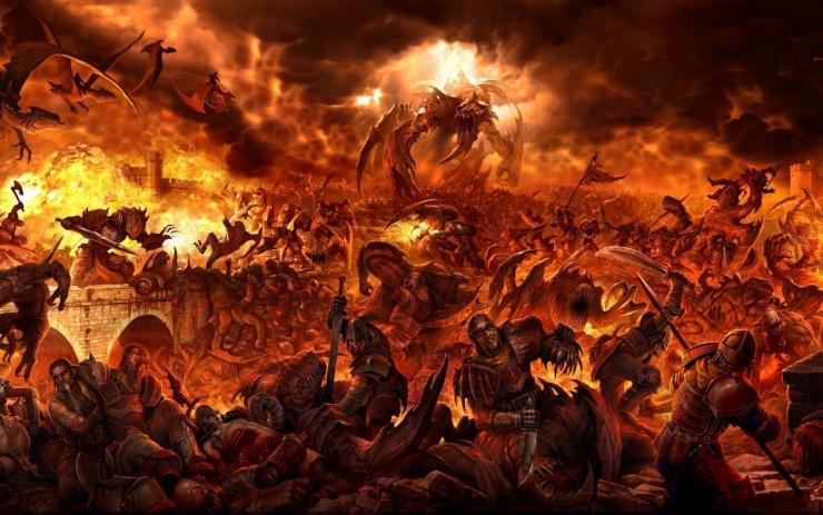 Fantasy war scene