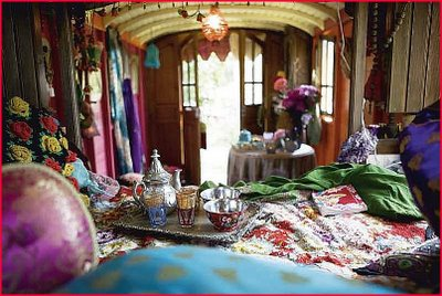 Inside the gypsy shop