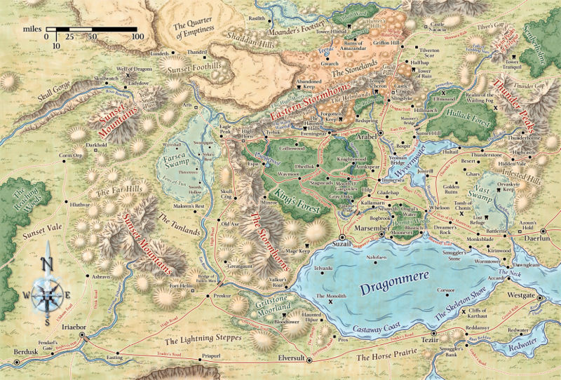 Map of corymr