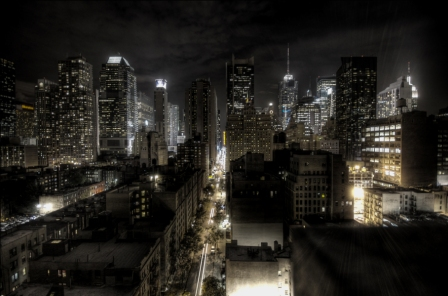 New york city at night hdr2