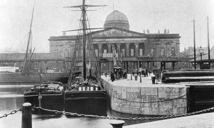 Custom house   liverpool   circa 1800