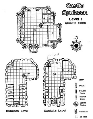 1st floor and dungeon levels