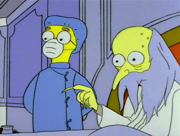 Lord monty burns y mayordomo smithers
