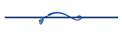 Line separator blue