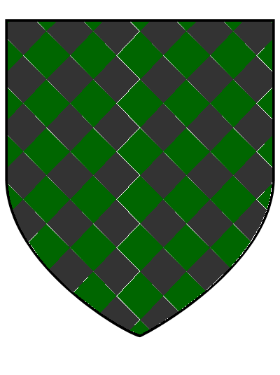 Lozengy adamant, the House Darhel arms