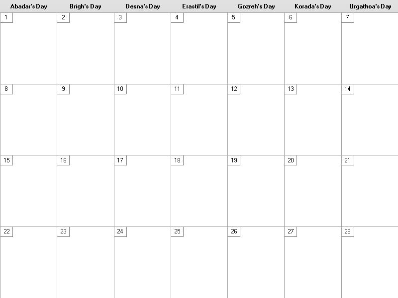 The new entobian calendar