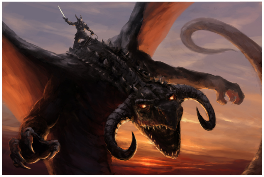 Dragon rider by m hugo d3cfo3l