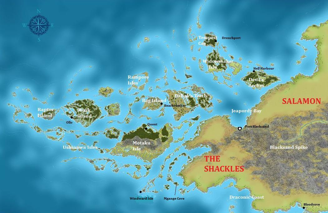 Map of The Shackles