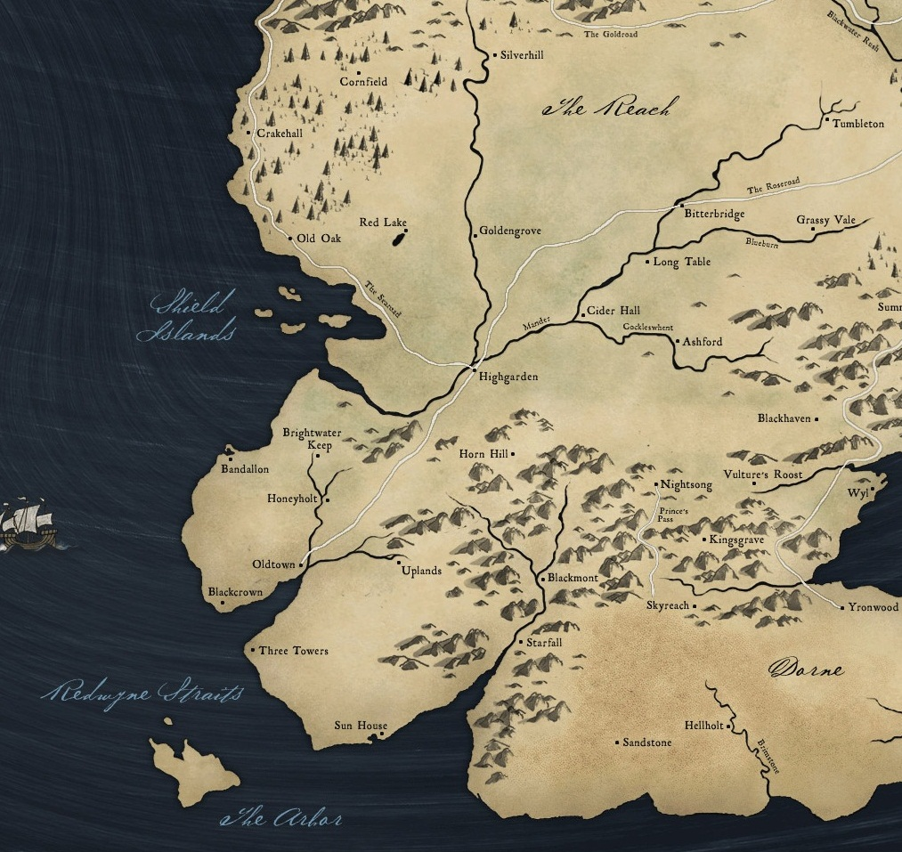 Map of the reach