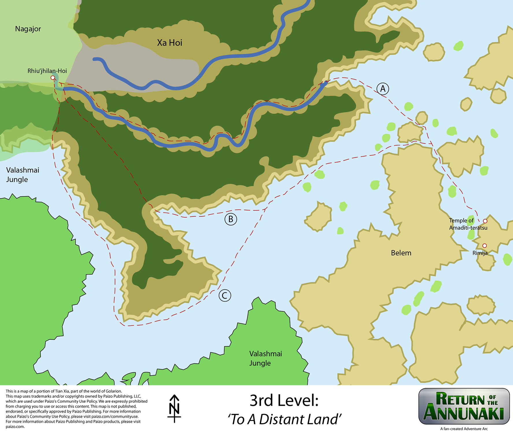 RotA map lvl03 routes to RJH, nagajor