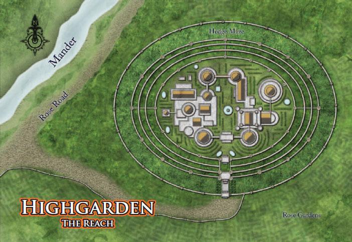 Map of highgarden