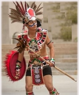 Aztec warrior at nku