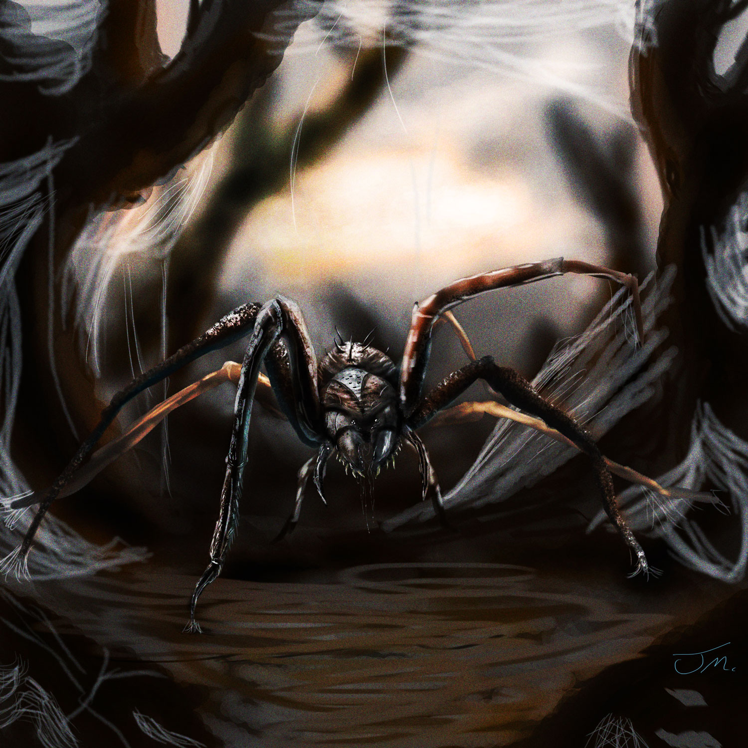 Giant spider by jakeaferr d5ogjfz