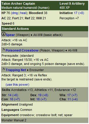 Talon archer captain