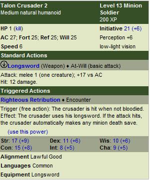 Talon crusaders