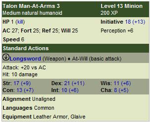 Talon man at arms
