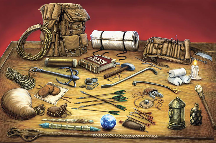 Table of items