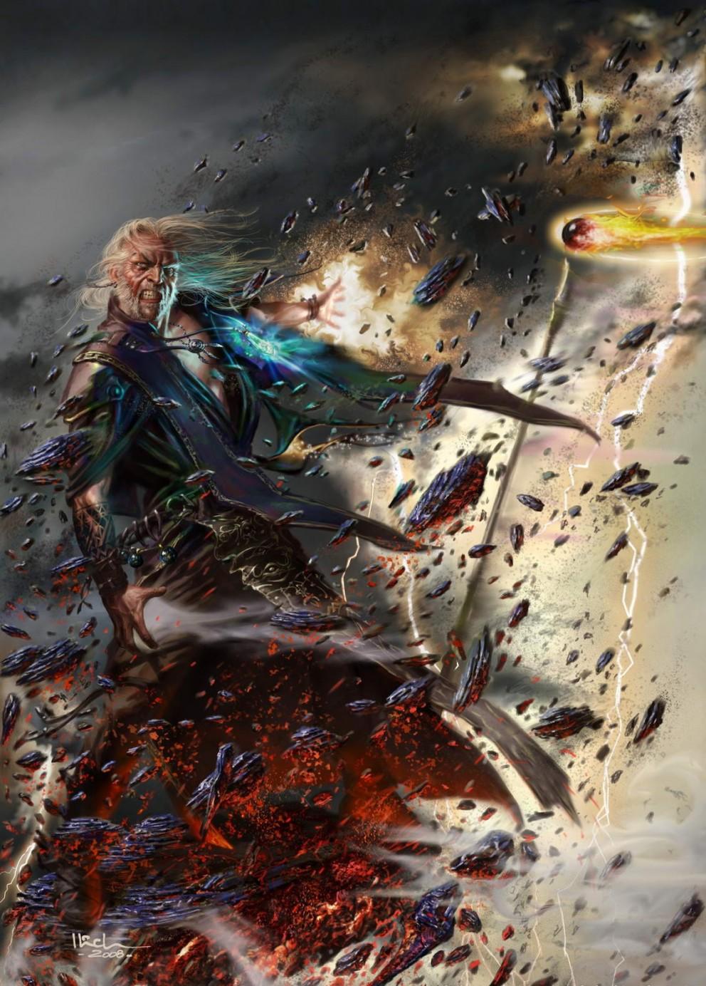 Fantasy art ilich henriquez duel of the warlocks 992x1384