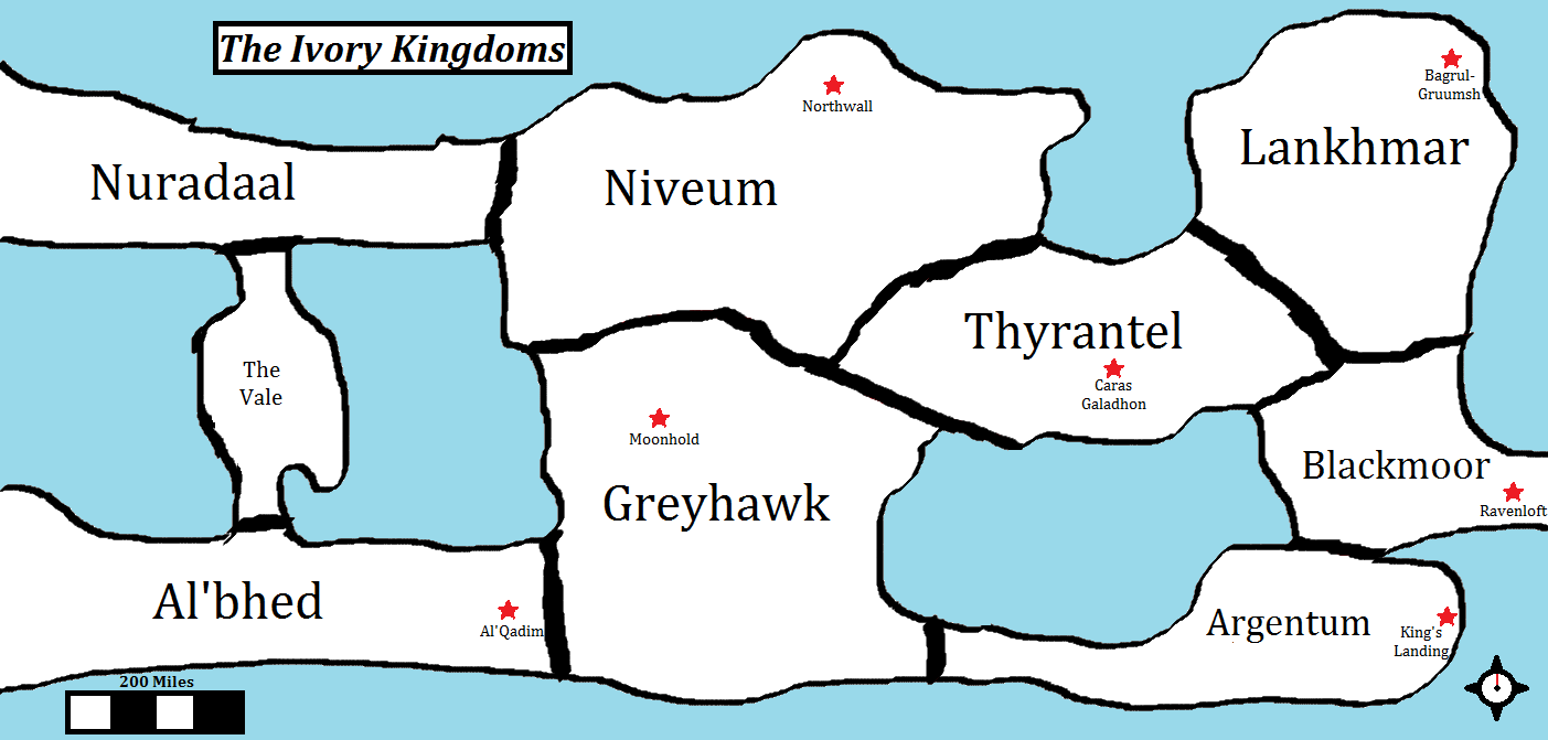 Crude map of the ivory kingdoms