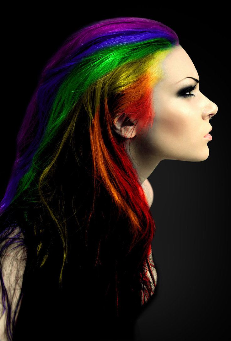 Rainbow hair by miumi u d2x0vf7