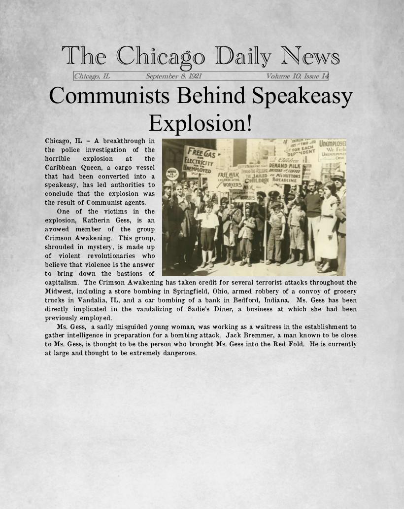 Communists behind explosion
