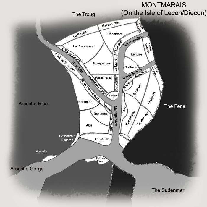 Montmarais district map named