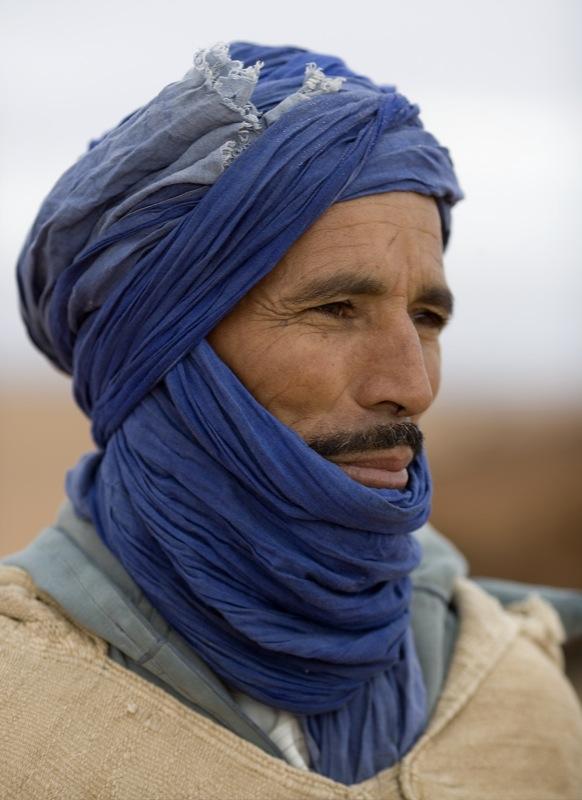 Nomadic berber in morocco