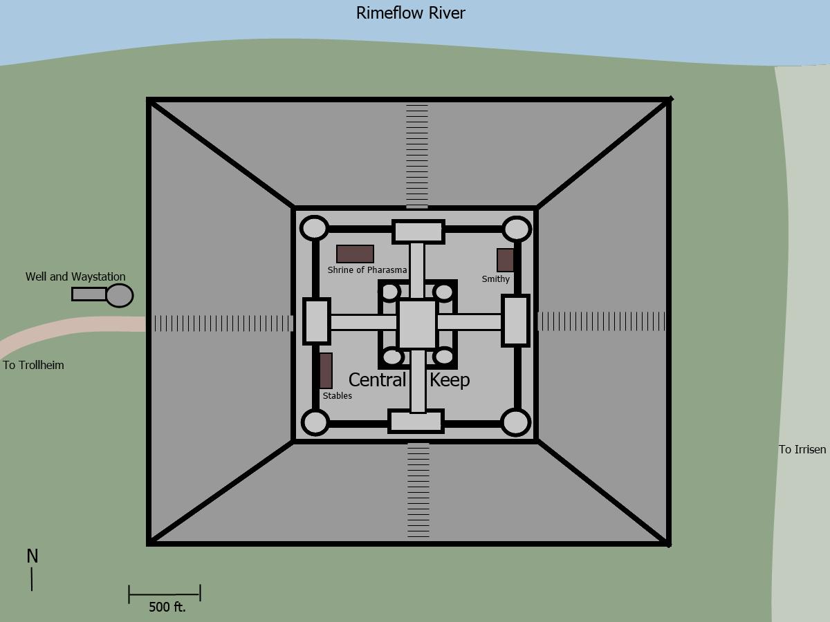 Blackraven hall map