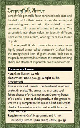 Snakescale armor