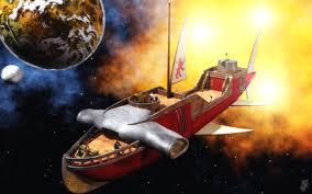 Hammership in flight