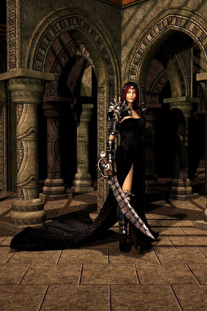 Warrior lady by brokenangel