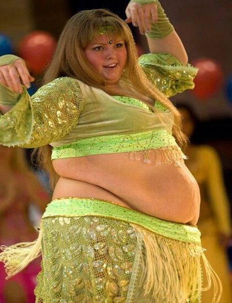 Fat belly dancer
